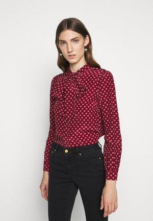 MINI MED BLOUSE - Button-down blouse - maroon