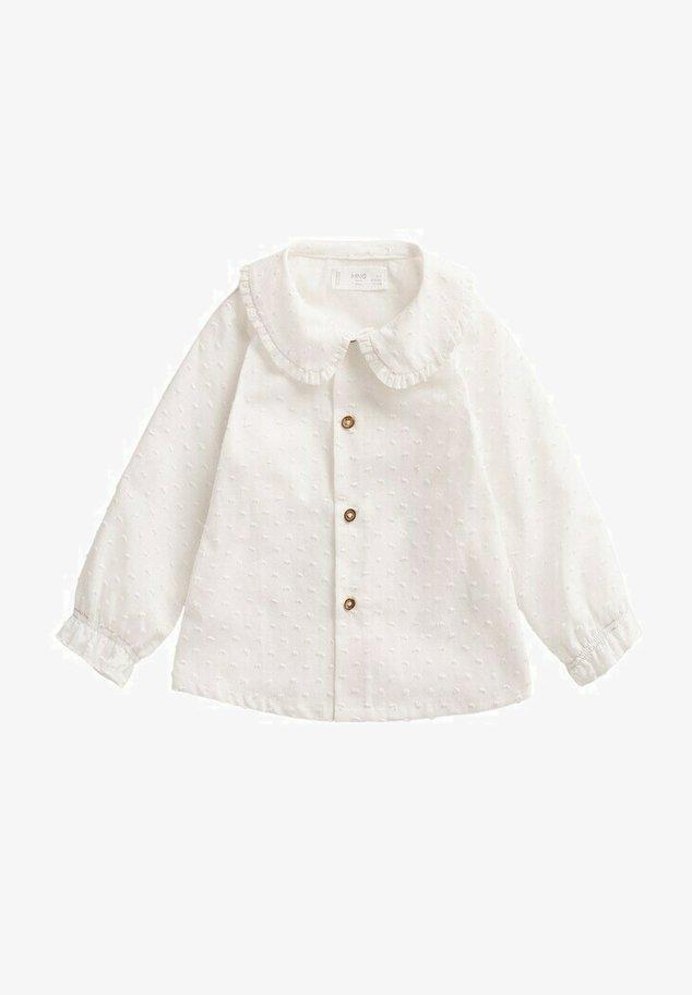 Overhemdblouse - blanc cassé