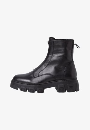 Classic ankle boots - black leather