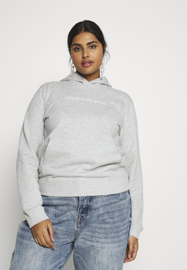 PLUS SHRUNKEN INSTIT HOODIE - Hoodie - light grey heather