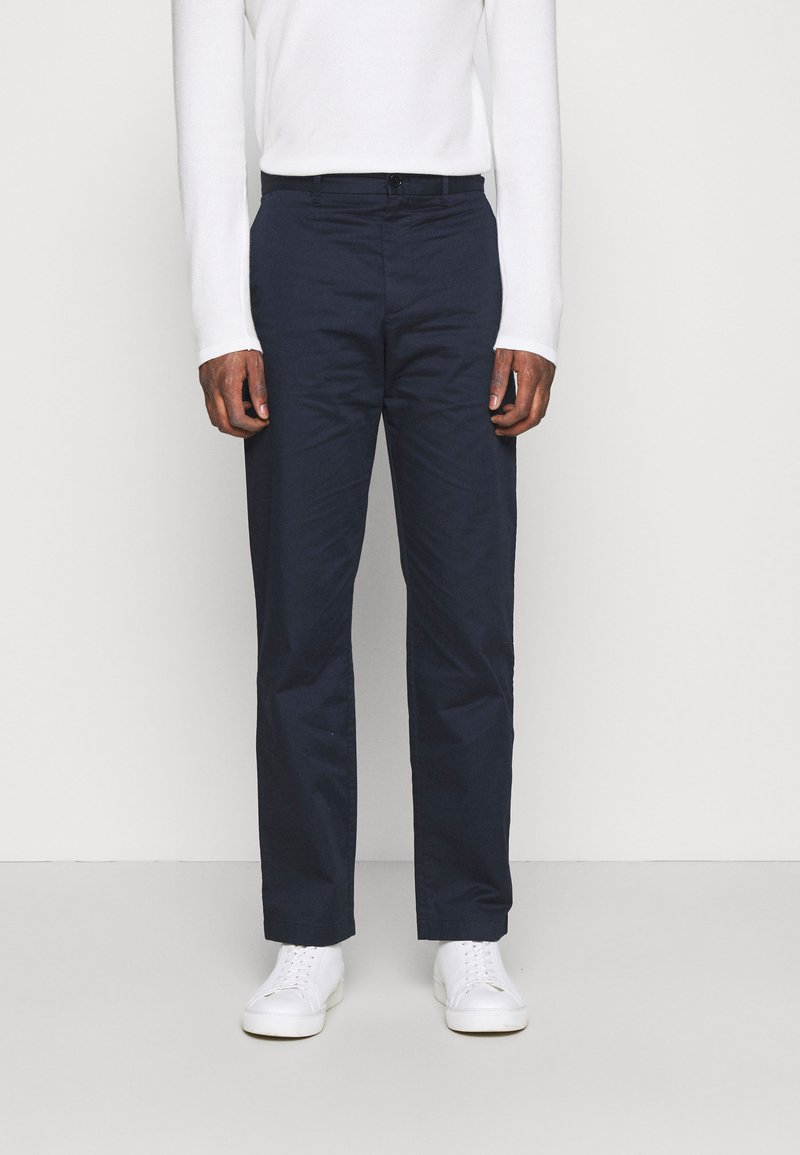 Wood Wood - MARCUS LIGHT TWILL TROUSERS - Chinos - navy
