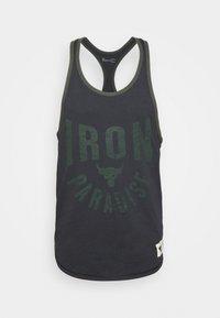 Under Armour - ROCK IRON  - T-shirt de sport - black - 4