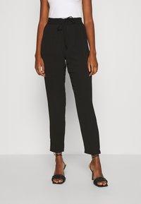 Vero Moda - VMSAGA STRING PANT - Trousers - black - 0