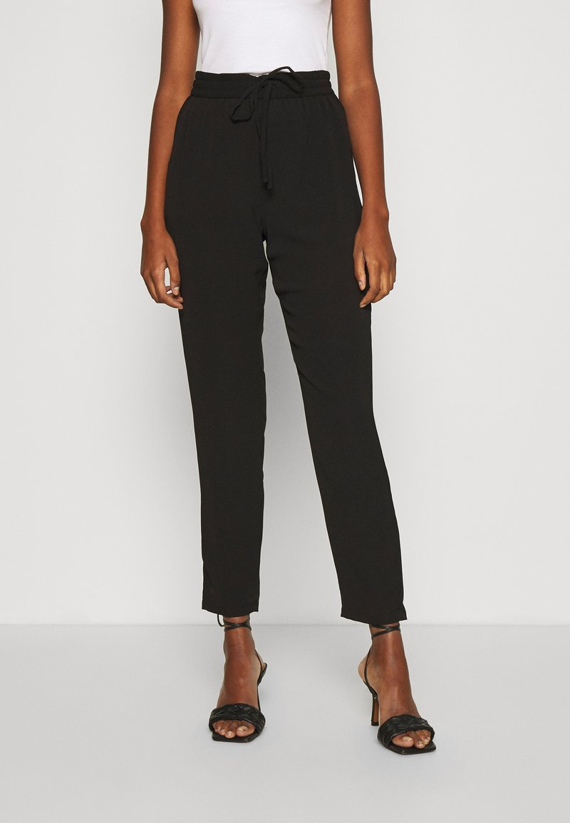 Vero Moda - VMSAGA STRING PANT - Trousers - black