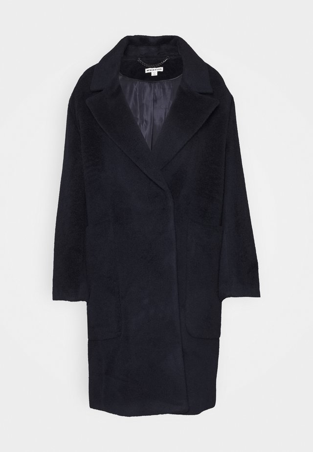 DRAWN COCCON COAT - Mantel - navy