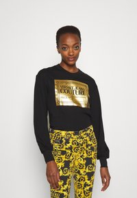 Versace Jeans Couture - Long sleeved top - black/gold - 0
