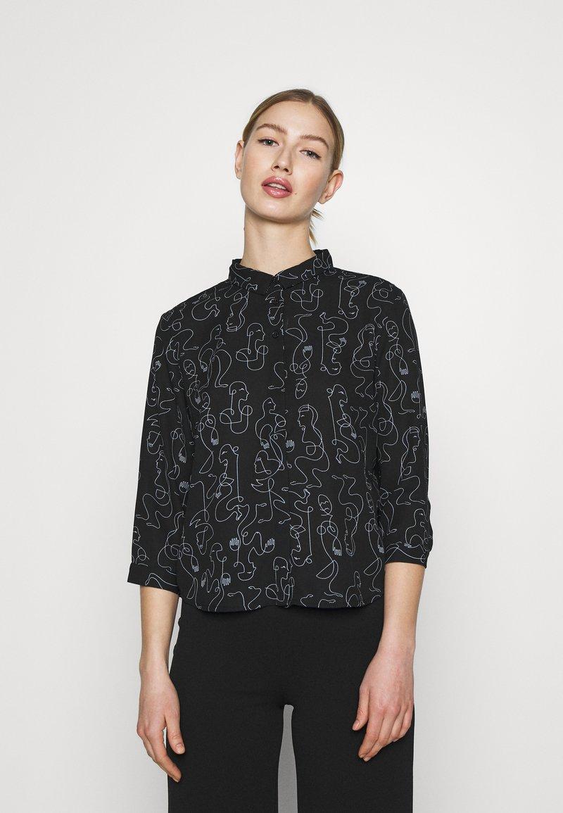 Monki - Button-down blouse - twirlsboddies