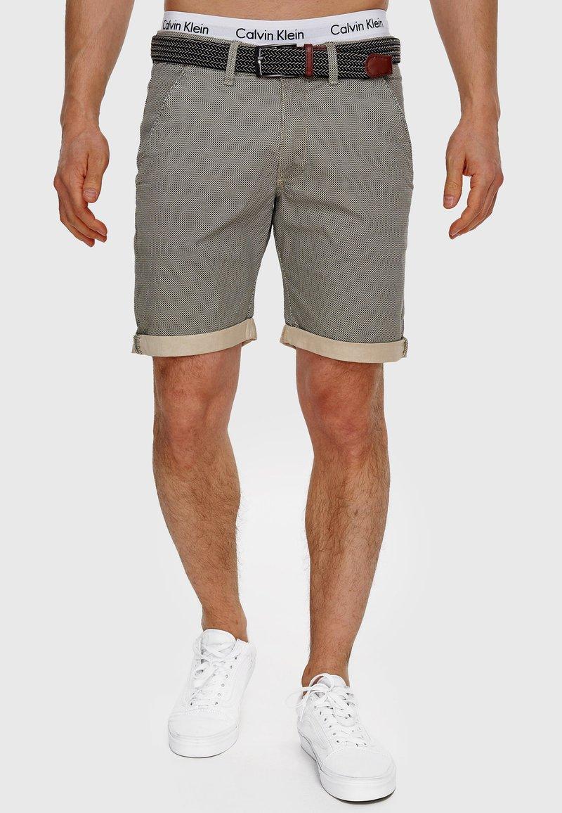 INDICODE JEANS - Shorts - fog