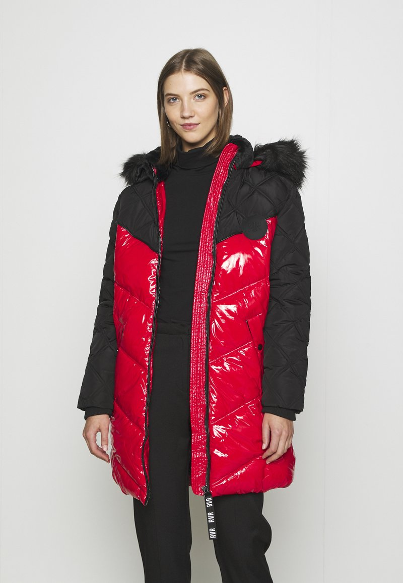 River Island - Winter coat - red/black