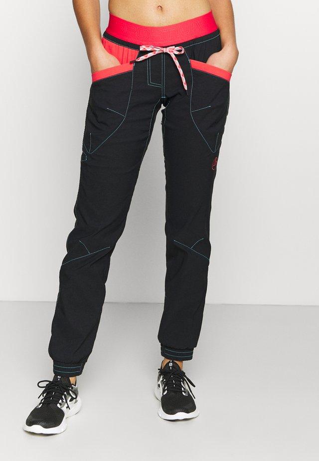 MANTRA PANT  - Pantalon classique - black/hibiscus