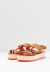 GANT - MIDVILLE  - Platform sandals - cognac/coral - 4