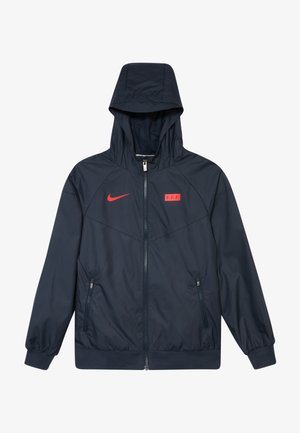 FRANKREICH - Training jacket - dark obsidian/university red