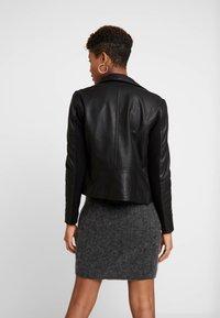 YAS - YASSOPHIE JACKET - Leather jacket - black - 2
