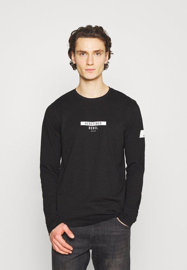 GUTI TEE - Maglietta a manica lunga - black
