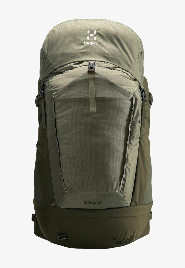 STRÖVA 65 - Hiking rucksack - sage green/deep woods m-l