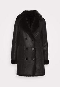 STUDIO ID - CAROLINE SHEARLING COAT - Classic coat - black - 6
