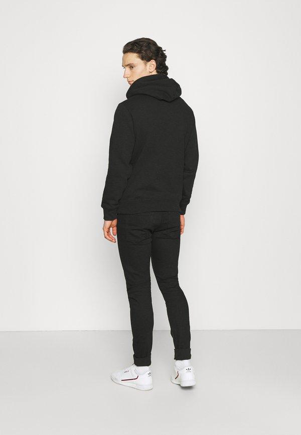 Calvin Klein Jeans NEW ICONIC ESSENTIAL HOODIE - Bluza - black/czarny Odzież Męska LJFE