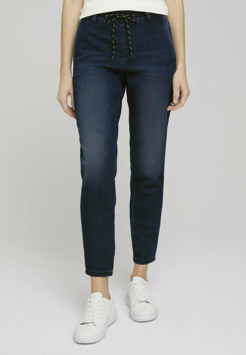 TOM TAILOR - Relaxed fit jeans - mid stone wash denim