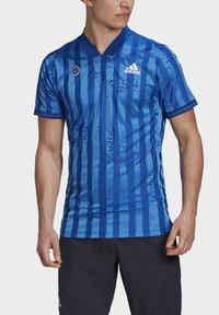 adidas Performance - Print T-shirt - blue - 3