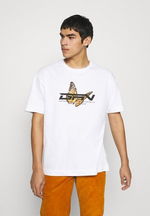 OVERSIZED BUTTERFLY - T-shirt print - white