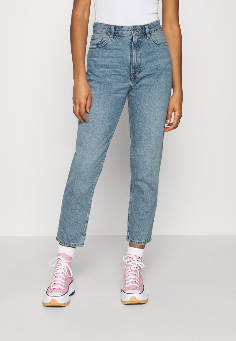 Monki - TAIKI - Straight leg jeans - blue dusty light
