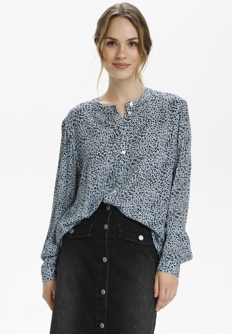 Kaffe - Button-down blouse - chambray blue, black dot