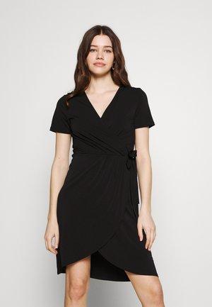 VINAYELI KNEE WRAP DRESS - Jerseyjurk - black