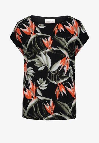 MUSTER - Print T-shirt - black/orange