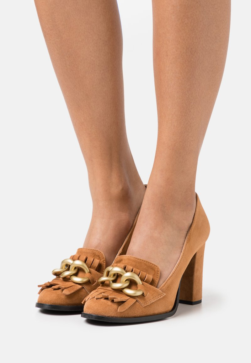 Selected Femme - SLFMEL - Escarpins à talons hauts - sudan brown