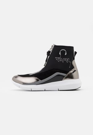 VITESSE SOCK ZIP REFLECTIVE - Sneakers alte - black/white/silver