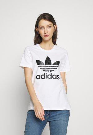 TEE - T-shirt z nadrukiem - white