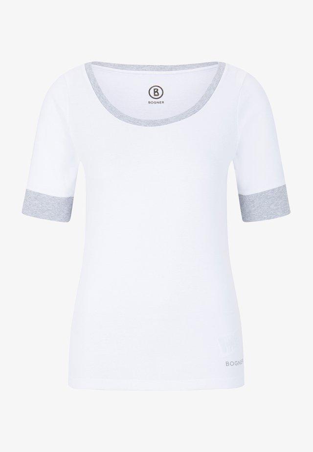 JACKIE - Jednoduché triko - weiß