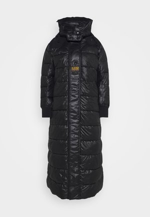 EXTRA LONG HOODED PADDED PUFFER  - Winterjas - dk black