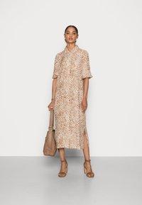 Rich & Royal - DRESS WITH LEO PRINT - Shirt dress - beige - 1