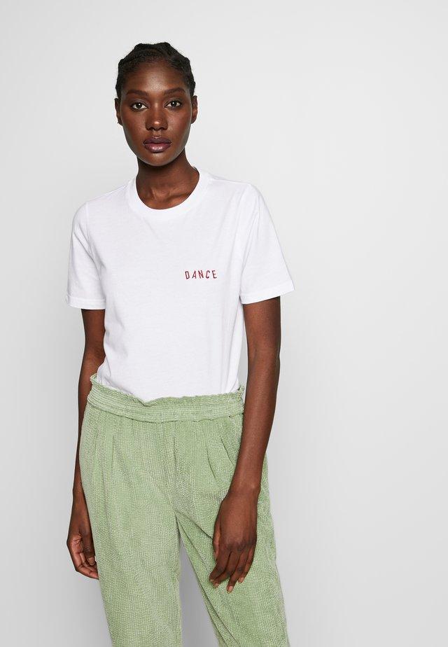 VALLEAU DANC - Print T-shirt - bright white