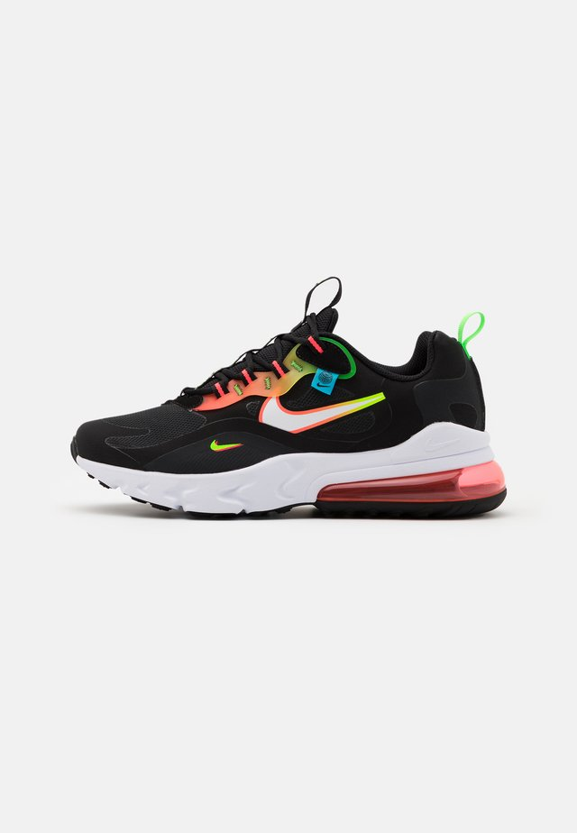 AIR MAX 270 REACT - Baskets basses - black/white/green strike/flash crimson/blue fury