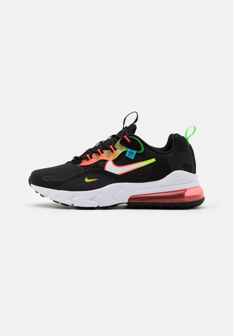 Nike Sportswear - AIR MAX 270 REACT - Sneakers - black/white/green strike/flash crimson/blue fury