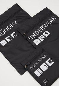 Urban Classics - TRAVELLER LAUNDRY SET - Wash bag - black - 8