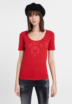 TS_LYON - T-shirt con stampa - red