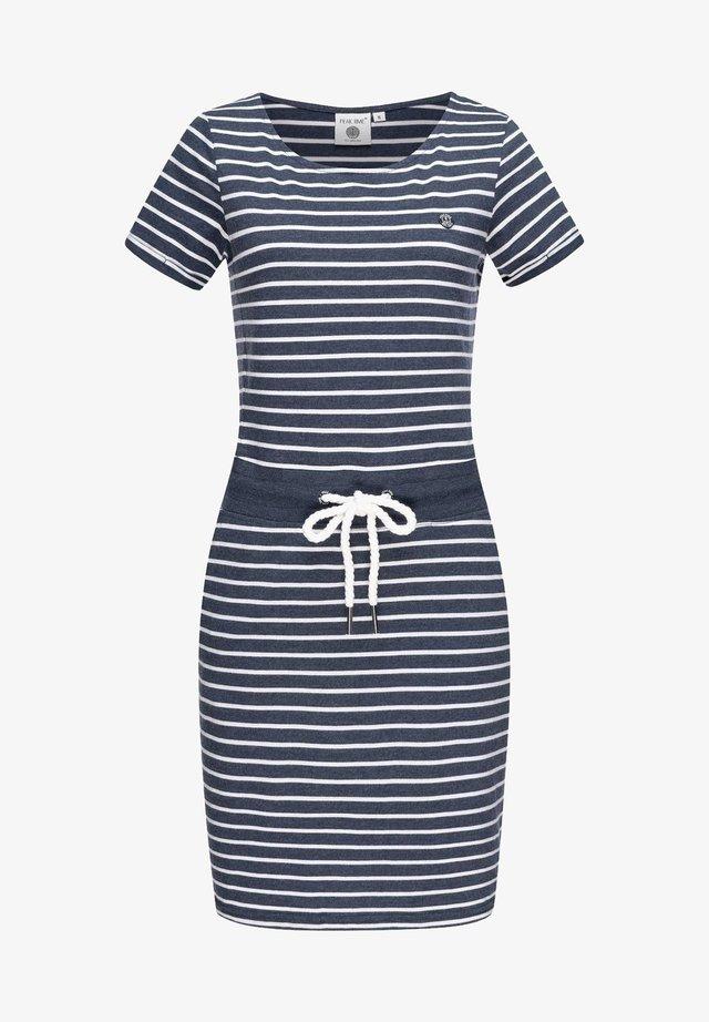 Jersey dress - blue melange