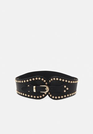 PCNANI WAIST BELT - Midjebelte - black/gold-coloured