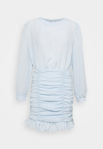 RUCHE DRESS - Cocktail dress / Party dress - dusty blue