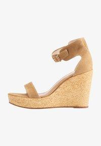usha - High heeled sandals - sand - 1