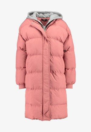 LONGLINE PUFFER  - Zimní kabát - pink
