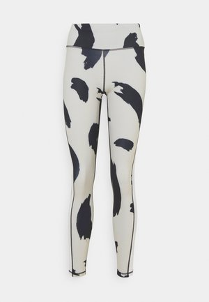 HIGH WAIST - Pantaloni sportivi - off-white/black