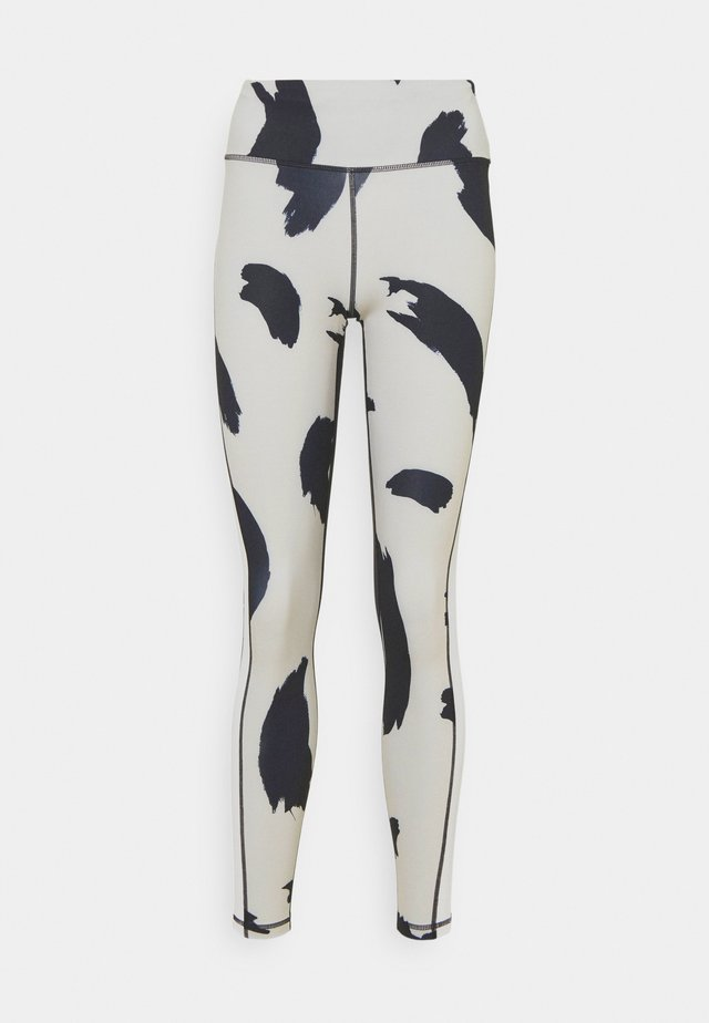 HIGH WAIST - Teplákové kalhoty - off-white/black