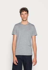 Hollister Co. - CREW 3 PACK - T-shirts basic - navy/burgundy/grey - 3