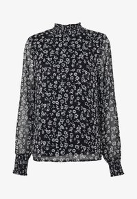 Vila - VIGALIANA - Blusa - black/cloud dancer - 4