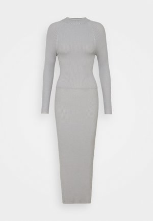 TIE BACK DRESS - Robe pull - grey