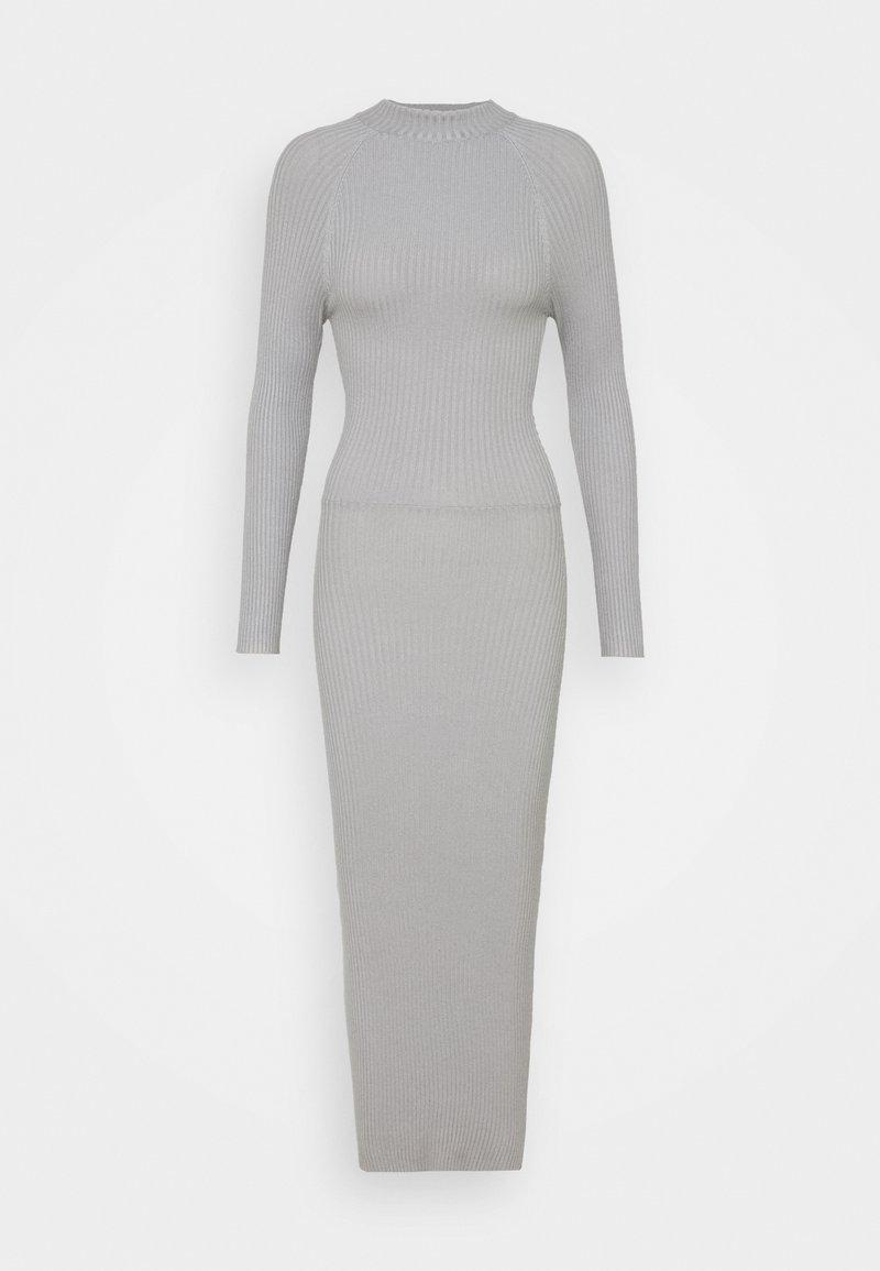 Missguided Tall - TIE BACK DRESS - Jumper dress - grey